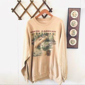Vintage Sportsman Fishing Sweatshirt